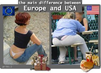 Основната разлика между Европа и USA