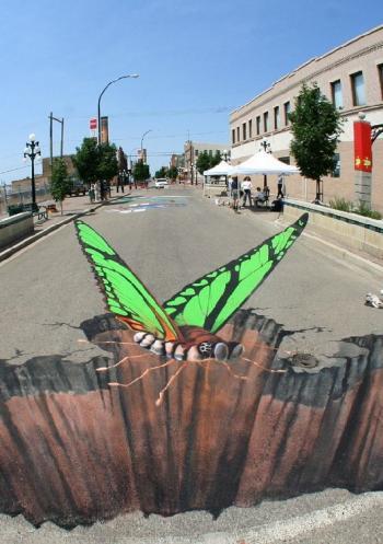 рисунка върху асфалт