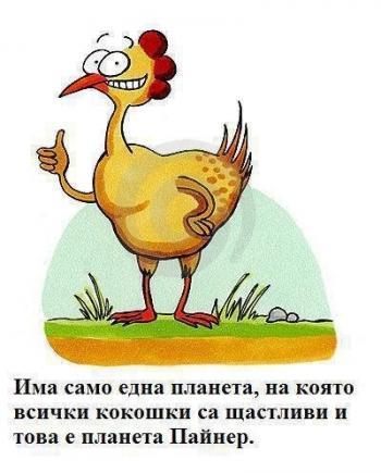 На коя планета всички кокошки са щастливи?