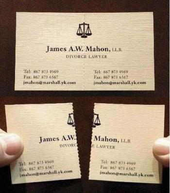 визитка на адвокат по разводи