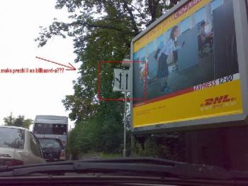 Знакът пречи на билборда