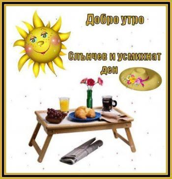 Добро утро! Слънчев и усмихнат ден.