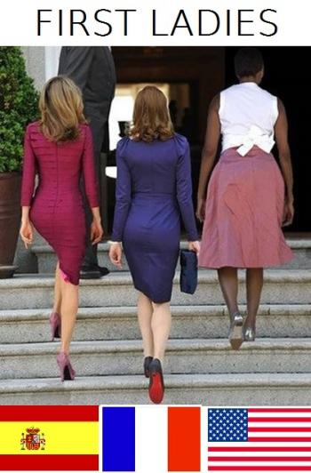 Първите дами Испания, Франция, САЩ