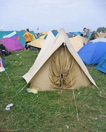 защо те разсмива тази палатка