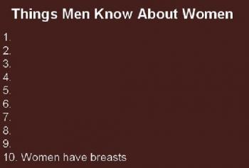 10-те неща, които мъжете знаят за жените...
