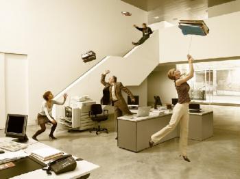 Това е весел офис. А в твоя офис как е?