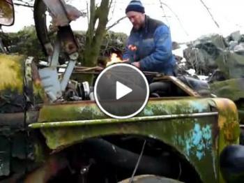 Как се пали камион стара антика - Volvo