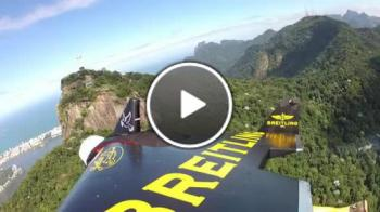 Летящ човек над Рио де Жанейро