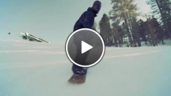 Snowboarding върху миниран район